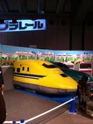 展示されていたプラレール形状の大型車両