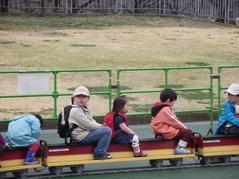 京阪ミニトレイン乗車中