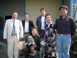 テレビ取材後の竹原さん、桂都丸さんとの記念写真