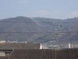 生駒山に煙が!