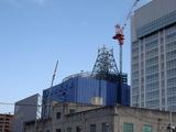 大阪市交通局横でのアンテナ?工事