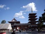 四天王寺の境内の様子
