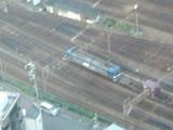 貨物ヤードの機関車