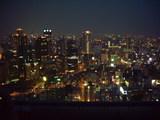 梅田スカイビル空中庭園から見た大阪梅田(南側)の夜景2