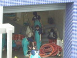 海遊館1階の作業場内の様子