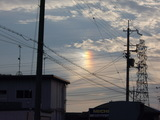 虹らしきもののUP写真