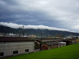 昨夜の雨の影響が残っている生駒山