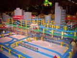 プラレールで作る地下鉄から立体交差線路までのジオラマ