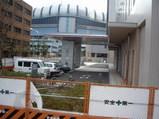 大阪市消防局新庁舎駐車場から見える京セラドーム大阪