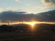生駒山に沈む夕日