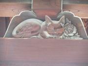 猫の門の眠り猫
