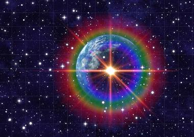 虹色の地球