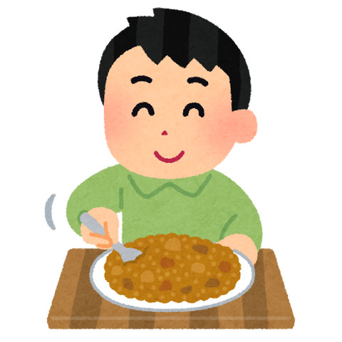syokuji_curry_mazeru