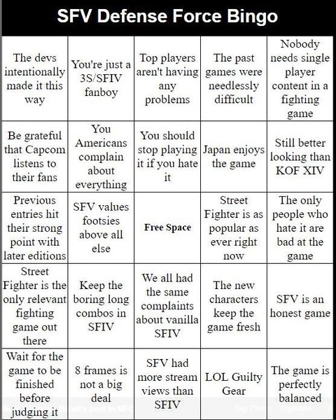 sfv-defence-force-bingo