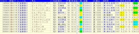 天皇賞春2015 過去10年好走血統データ
