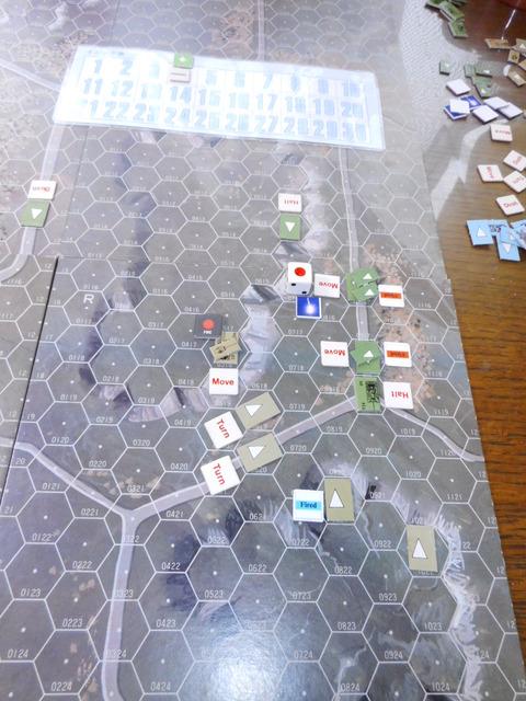T4F4 M26の側面に命中、撃破!