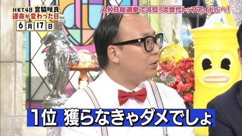 【ダウンタウンDX】トレンディエンジェルたかし「さくらたんが1位獲らなきゃ、来年総選挙やる意味ないでしょ!」【HKT48・宮脇咲良】