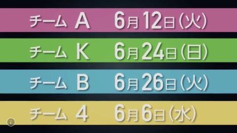 【AKB48】新チーム公演決定!新チーム体制は6月から始動