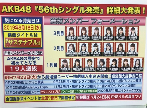 【AKB48】運営「え?今回の選抜メンバー納得してない? じゃあ選抜総選挙やる?」www