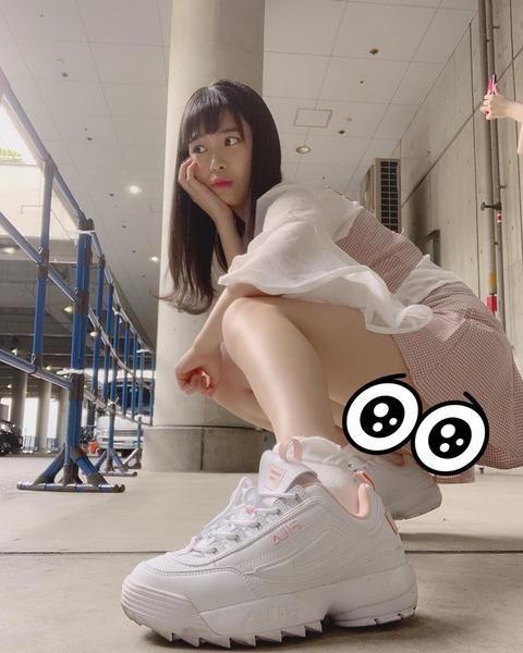【NMB48】安田桃寧「おパンツみえそだったので いちおうかくしとく」