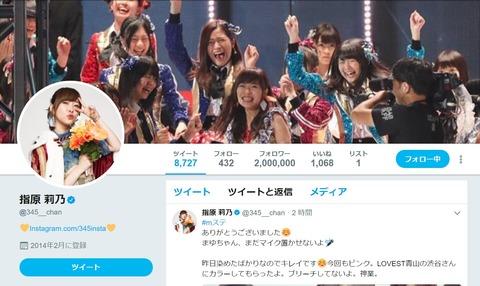 【HKT48】さっしーTwitter、200万フォロワーきたあああ!!!【指原莉乃】