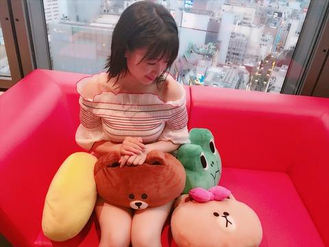 【HKT48】朝長美桜ちゃんの服がエロい(*´Д`)ハァハァ