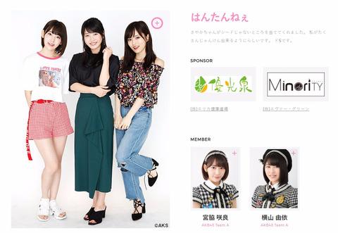 【AKB48G】じゃんけん大会でスポンサーが付いてる「ユニット」があるんだけど?