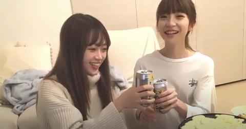 【NGT48】荻野由佳、中井りかがSHOWROOMのルールを破り飲酒配信でBANされる