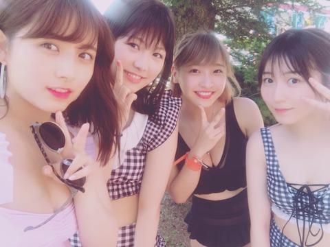 【元AKB48】大和田南那・大島涼花・横島亜衿・橋本耀の水着姿キタ━━━(゚∀゚)━━━!!