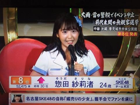 【AKB48G】ドラフト1期生の勝者は須藤でも川本でもなく惣田紗莉渚だった件