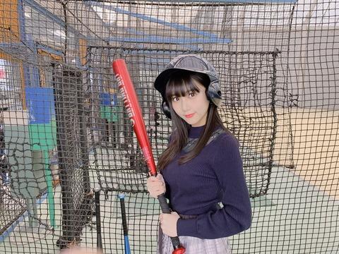 【HKT48】田中美久りんがバッティングセンターに行くも自前の2つのボールが大きすぎる件www