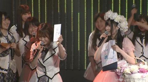 【朗報】NMB48矢倉楓子、卒業公演でアイス商品券をしこたまGET!!!