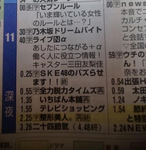 【大悲報】SKE48の冠番組が終了・・・