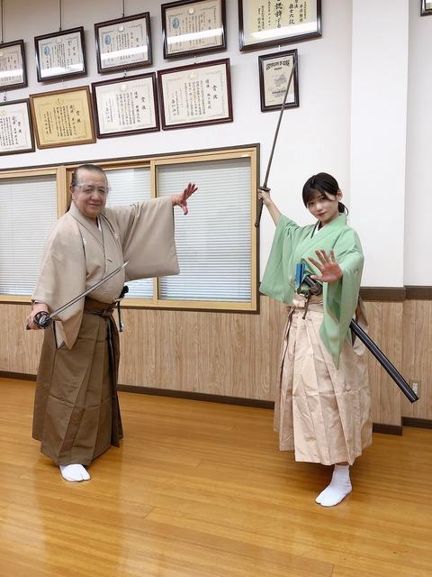【NMB48】菖蒲まりん、清水里香が日本武道館で「吟と舞祭り」に出演!