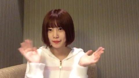 【悲報】HKT48朝長美桜さん、髪を赤く染めてしまう・・・