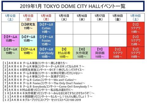 【AKB48】TDCホールコンサート、各チームのセトリがこちら!!!