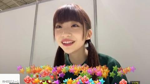 【NGT48】荻野由佳さんSHOWROOM視聴者数で菅原りこに惨敗www