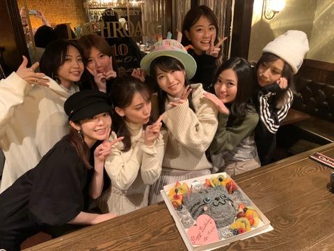 【悲報】AKB48横山由依の誕生日パーティーの写真に男が写り込んでしまうwww【ゆいはん】