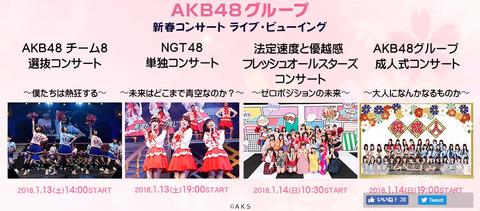 【悲報】AKB16期コンサートだけTDCライブヴューイング無し!!!
