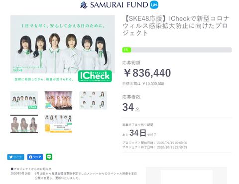 【悲報】SKE48の抗体キット1,000万円目標に83万円しか応募なし・・・【クラウドファンディング】