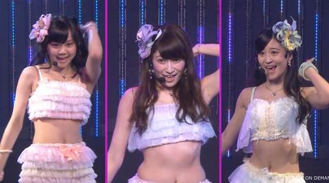 【悲報】NMB48吉田朱里の腹の贅肉大変なことに・・・