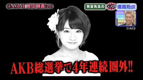 【AKB48】最近の島田晴香はかつての峯岸みなみを彷彿とさせる