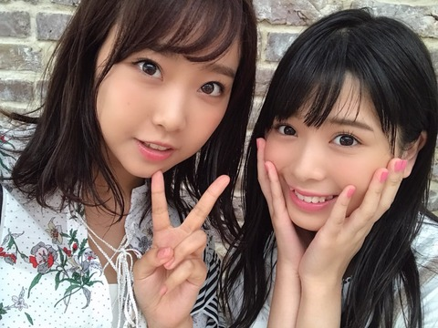 【NMB48】安田桃寧「デカパイのうーかさん(加藤夕夏)と一緒に撮影させていただきました」