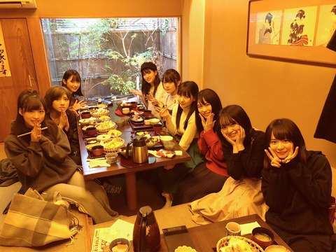 【HKT48】田中美久「出番前の空き時間にこのメンバーでご飯食べました」