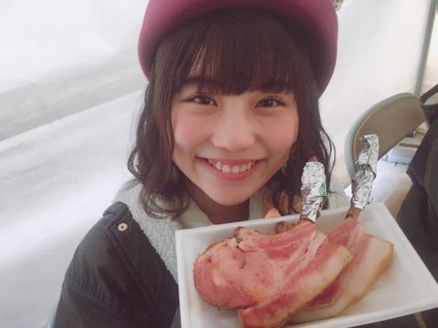 【SKE48】ベーコンを頬張る小畑優奈ちゃんがめちゃくちゃ可愛い!まさに「無垢」!!!