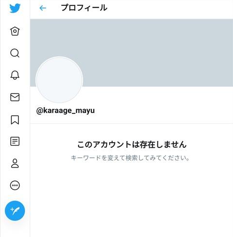 【悲報】渡辺麻友さん、Twitter完全削除・・・