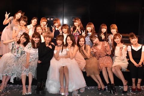 【朗報】元AKB48中西里菜が高橋みなみ卒業公演に来てた件