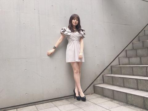 【画像あり】HKT48冨吉明日香が超美脚!!!