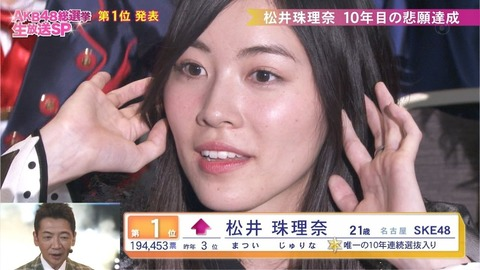 【SKE48】松井珠理奈が壊れたのは投票したファンのせいという風潮