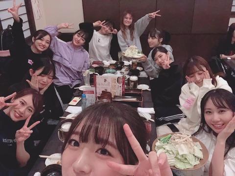 【朗報】AKB48G博多座、向井地総監督と横山前総監督が泥酔打ち上げ